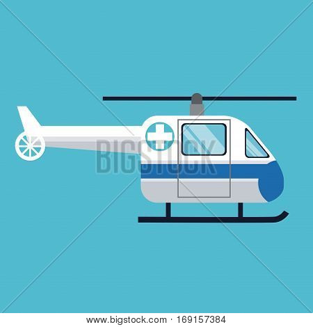 helicopter transport hospital urgency vector illustration eps 10