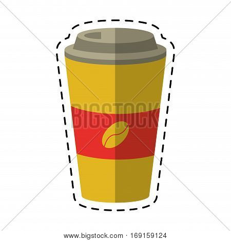 paper coffee cup hot-cut line vector illustration eps 10