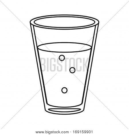 cup glass coffee caffeine drink thin line vector illustration eps 10