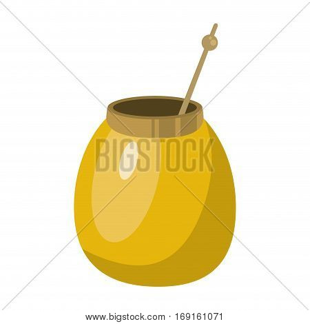 mate tea calabash herb vector illustration eps 10