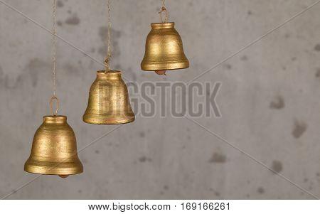Decorative ceramic bells and music handmade with unique sound.