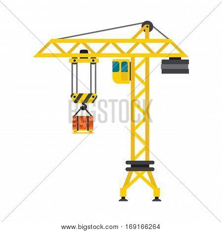 crane urban house architecture and exterior house built lifts concrete slab construction vector engineering - House Built On Concrete Slab