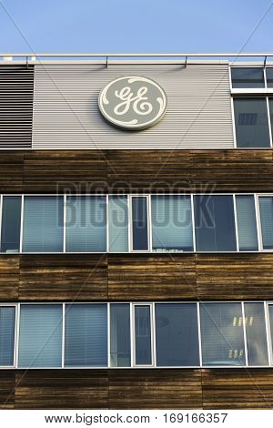 Prague, Czech Republic - February 5: General Electric Company Logo On The Headquarters Building On F