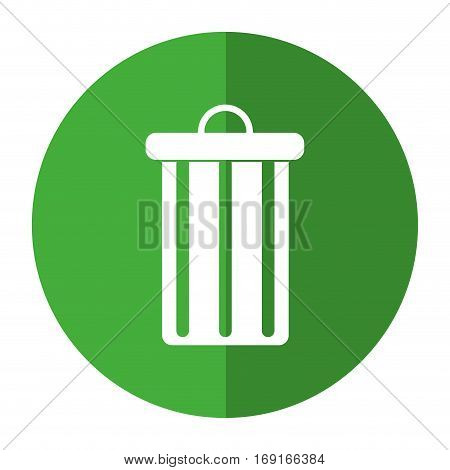 trash can garbage environment recycle-shadow circle vector illustration eps 10