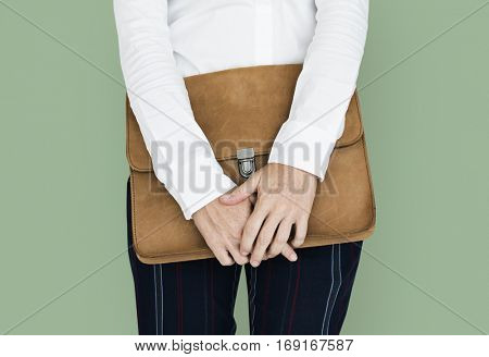 Formal Wear Brown Folder Bag