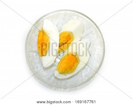 Images of boiled eggs and egg whites