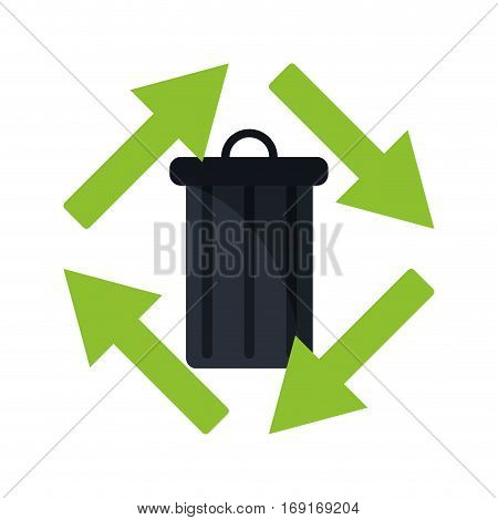 trash can garbage environment recycle vector illustration eps 10