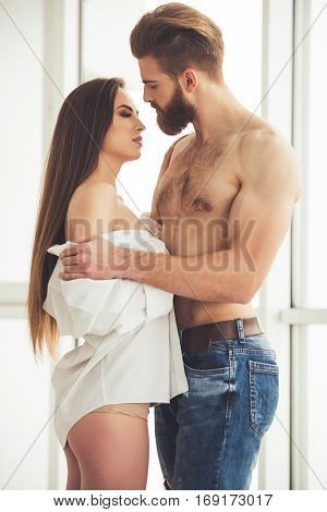 Beautiful Couple At Home