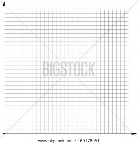 coordinate grid template chart to analyze the chart, vector template for tracking expenses and income for a month