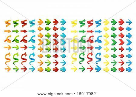 Isolated triangle polygonal arrows set undo and previous buttons. Vector
