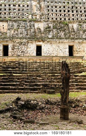 Ancient city of Yaxchilan hidden in the jungle in the borderland of Mexico and Guatemala