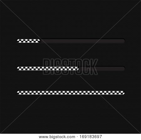Vector illustration with loading bar. Illustration 10 version