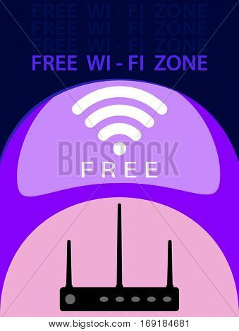 Wifi Free Password Concept Design Raster Art