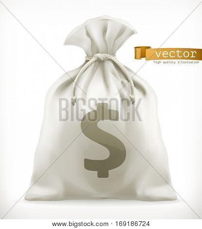 Money Bag, 3d vector icon