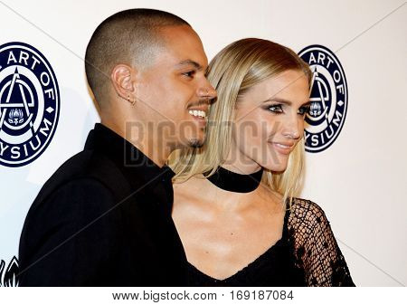 Evan Ross and Ashlee Simpson at the Art of Elysium Celebrating the 10th Anniversary held at the Red Studios in Los Angeles, USA on January 7, 2017.