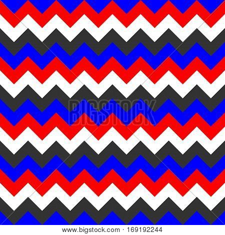 Chevron pattern seamless vector arrows  design colorful white red blue black