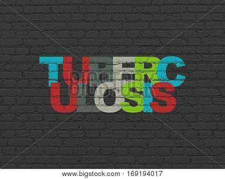 Health concept: Painted multicolor text Tuberculosis on Black Brick wall background
