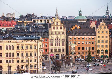 Gamla Stan in city of Stockholm, Sweden