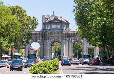Arch of Triumph - Gate of Alcala, Madrid, Spain