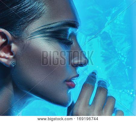 Fashion art woman portrait