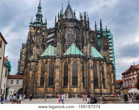 Prague, Czech Republic - June 18, 2012: Cathedral of Saint Vite in Prague
