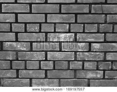 Monochrome picture of Terracotta Bricks Wall, Background