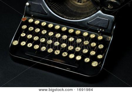 Old Dusty Typewriter Machine