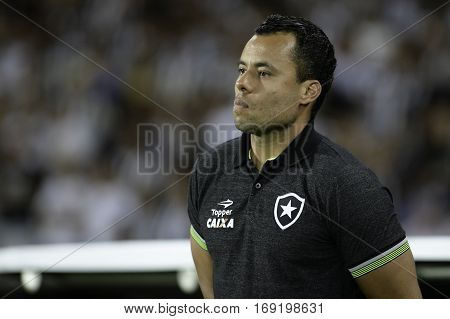 Rio Brazil - february 01 2017: Coach Jair Ventura during Botafogo (BRA) vs Colo Colo (CHI) in the Copa Libertadores of America match at the Nilton Santos Stadium (Engenhao)