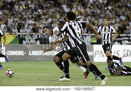 Rio Brazil - february 01 2017: Bruno Silva during Botafogo (BRA) vs Colo Colo (CHI) in the Copa Libertadores of America match at the Nilton Santos Stadium (Engenhao)
