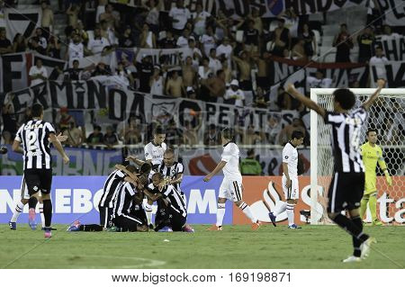 Rio Brazil - february 01 2017: Airton during Botafogo (BRA) vs Colo Colo (CHI) in the Copa Libertadores of America match at the Nilton Santos Stadium (Engenhao)