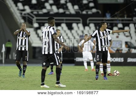 Rio Brazil - february 01 2017: Emerson Silva during Botafogo (BRA) vs Colo Colo (CHI) in the Copa Libertadores of America match at the Nilton Santos Stadium (Engenhao)