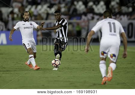 Rio Brazil - february 01 2017: Marcelo during Botafogo (BRA) vs Colo Colo (CHI) in the Copa Libertadores of America match at the Nilton Santos Stadium (Engenhao)