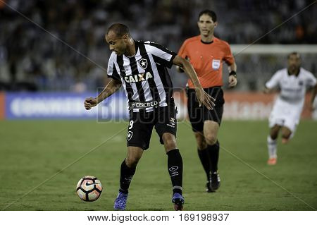 Rio Brazil - february 01 2017: Roger during Botafogo (BRA) vs Colo Colo (CHI) in the Copa Libertadores of America match at the Nilton Santos Stadium (Engenhao)