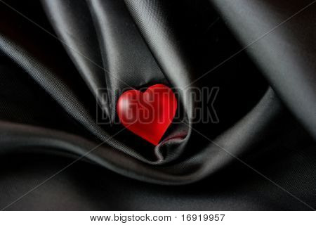 red shiny heart poster
