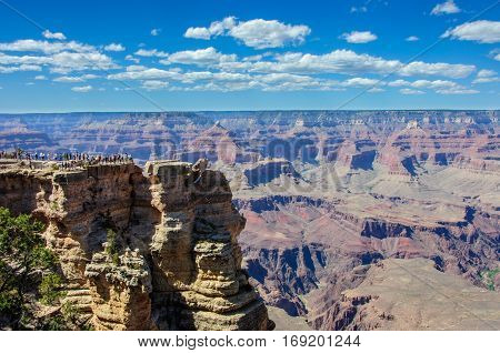 Mather Point in Grand Canyon national park, Arizona