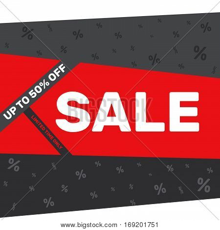 Sale Banner Template On A Gray Background
