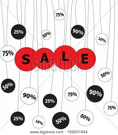 Sale Bannertemplate On A Whightbackground