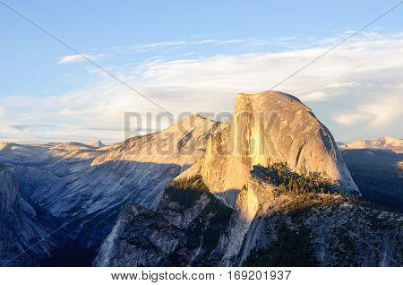 Mountain Half Dome in Yosemite National Park, California, USA