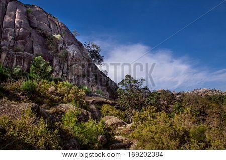 Landscape of Peneda geres national park in Portugal