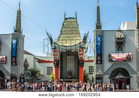 Los Angeles, California, USA - June 15, 2014: The main entrance to the famous Chinese Theatre