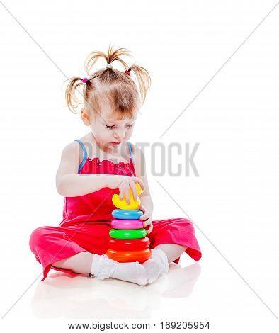 Girl Playing Pyramid