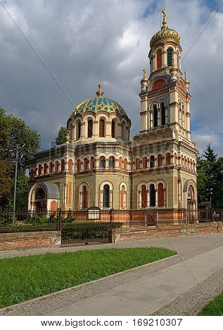 Basilica of Alexander Nevsky Cathedral Lodz, Poland - August 05, 2014 Orthodox Church in the Russian Byzantine style (1884), Alexander Nevsky Cathedral.