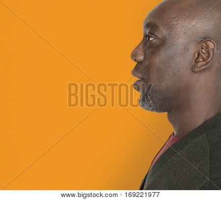 African Descent Man Side Shot Concept