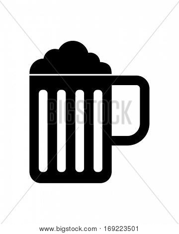 beer mug black icon