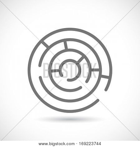maze labyrinth round icon