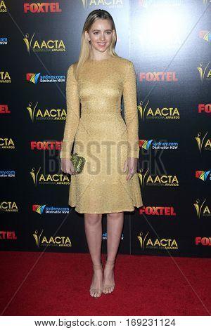 LOS ANGELES - JAN 6:  Natasha Bassett at the 6th AACTA International Awards at 229 Images on January 6, 2017 in Los Angeles, CA