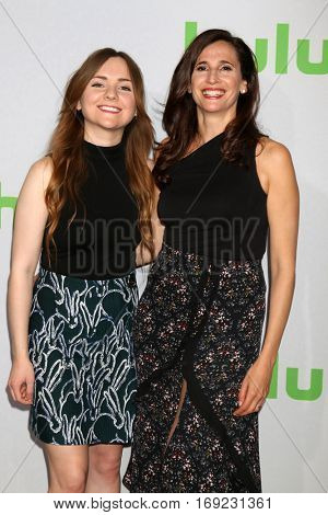 PASADENA - JAN 7:  Tara Lynne Barr, Michaela Watkins at the HULU TCA Winter 2017 Photo Call at the Langham Hotel on January 7, 2015 in Pasadena, CA