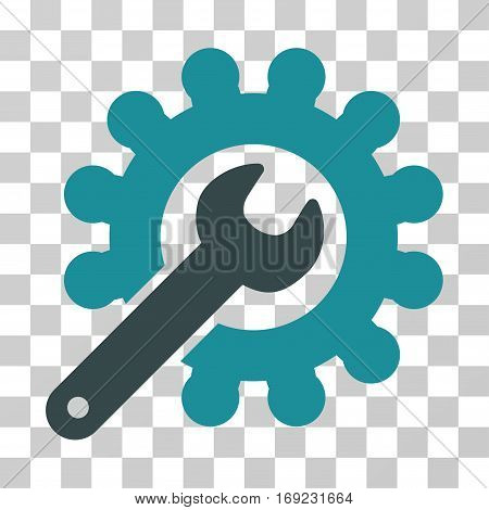 Wrench And Gear Customization Tools icon. Vector illustration style is flat iconic bicolor symbol soft blue colors transparent background. Designed for web and software interfaces.