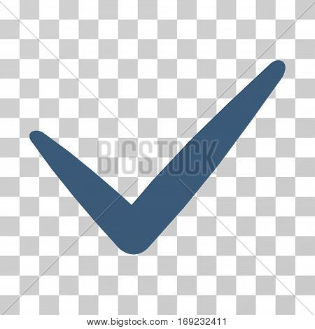 Valid icon. Vector illustration style is flat iconic symbol blue color transparent background. Designed for web and software interfaces.