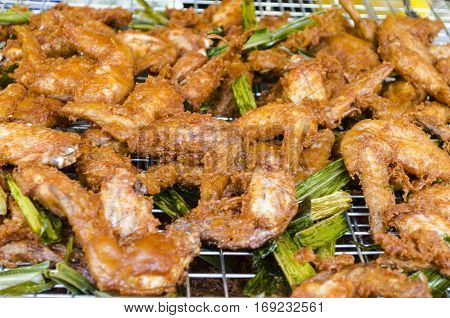 Deep Fried Chicken Wings with Thai Style Flavour